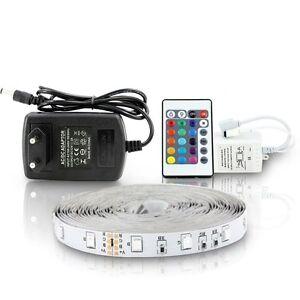 5M-ruban-a-LED-5-metres-bande-de-lumiere-avec-telecommande-multicolores