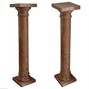 Colonna Marmo Rosso Laguna Marble Vintage Classic Old Home Design Column H.100cm Altri Complementi D'arredo Arredamento D'antiquariato