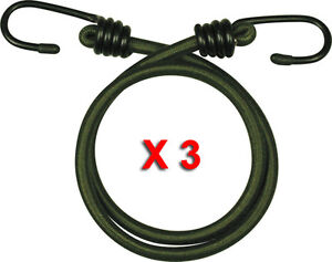3-PACK-18-034-INCH-ELASTIC-BUNGEE-45CM-BUNGEES-CORDS-CORD-HEAVY-DUTY-OLIVE-ROPE