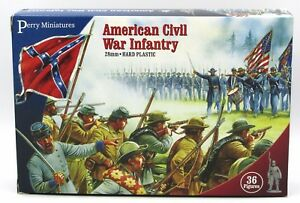 Perry ACW1 ACW American Civil War Infantry (36) 28mm Plastic Miniatures Troops