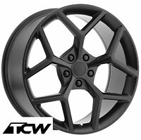 20 Inch 20x8 20x9 Chevy Camaro Z28 Oe Factory Replica Matte Black Wheels Rims