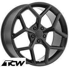 "20 inch 20x9"" Chevy Camaro Z28 2014 OE Replica Matte Black Wheels Rims 5x120 +30"