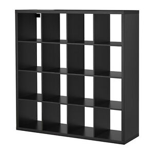 Ikea Kallax 4 x 4 Shelf Unit Black Brown 102.758.62