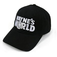 Wayne's World Black Embroidered Cap Hat Baseball Hat Party Movie Costume Hot