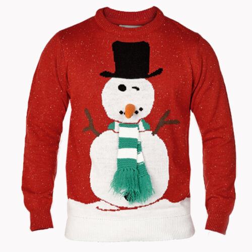 D555 DUKE Homme bonhomme de neige Noël 3D Nouveauté Big King Size Pull 3XL 4XL 5XL