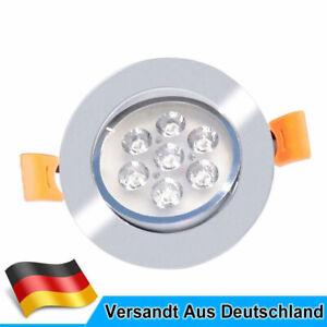3W 5W 7W LED Spot Einbaustrahler Set Einbauleuchte Deckenleuchte Strahler 230V
