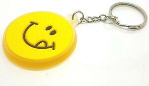 Smiley-Emoji-Keyrings-Keychain-Keyfob-Keys-Bags-Pouch-Ring-Chain