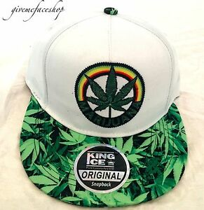 a71525eb063a6 Image is loading leaf-snapback-hat-marijuana-fresh-baseball-hats-cannabis-