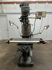 Bridgeport 1j Vertical Milling Machine 7 Riser Chrome Ways 42 Table Dro