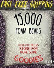 White Styrofoam Slime Beads Balls Bean Bag Floam And free borax activator