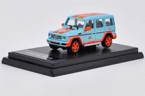 1//64 Mercedes Benz G Class AMG G63 SUV Gulf Version Diecast Car Model Toy Gift