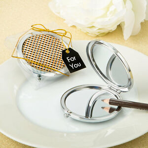 50 Gold Purse Compact Mirror Wedding Shower Baby Party Event Favor Bulk Lot