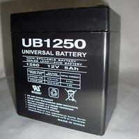 Upg 12volt 5ah Rechargeable Game Feeder Alarm Sla 12v 5amp Hour Sealed Battery