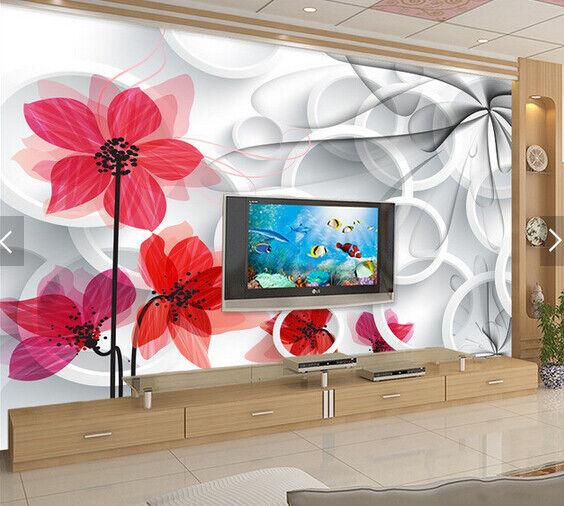 3D Circle Petal 511 Wallpaper Murals Wall Print Wallpaper Mural AJ WALL AU Kyra