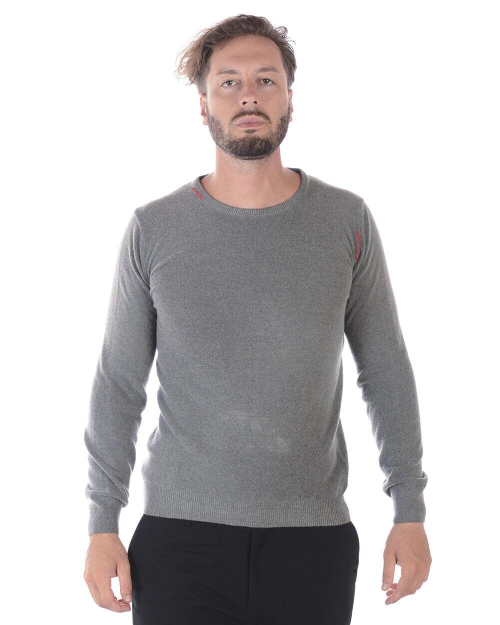 Maglia Maglione Daniele Alessandrini Sweater Lana  Herren Grigio FM901363707 10