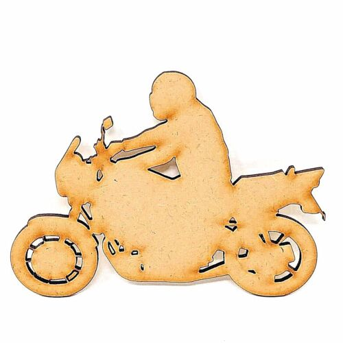 Wooden motor biker shape Motorbike gift ideas Motorbiker MDF craft shape