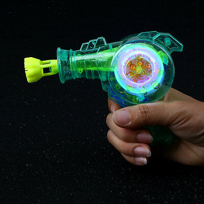 Shining Bubble Gun Soap Bubble Blower Outdoor Kids Toys Gift Color Random