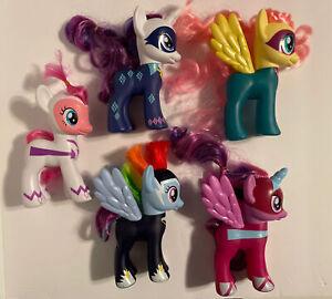 "MY LITTLE PONY 6"" Power Ponies lot of 5 MLP"