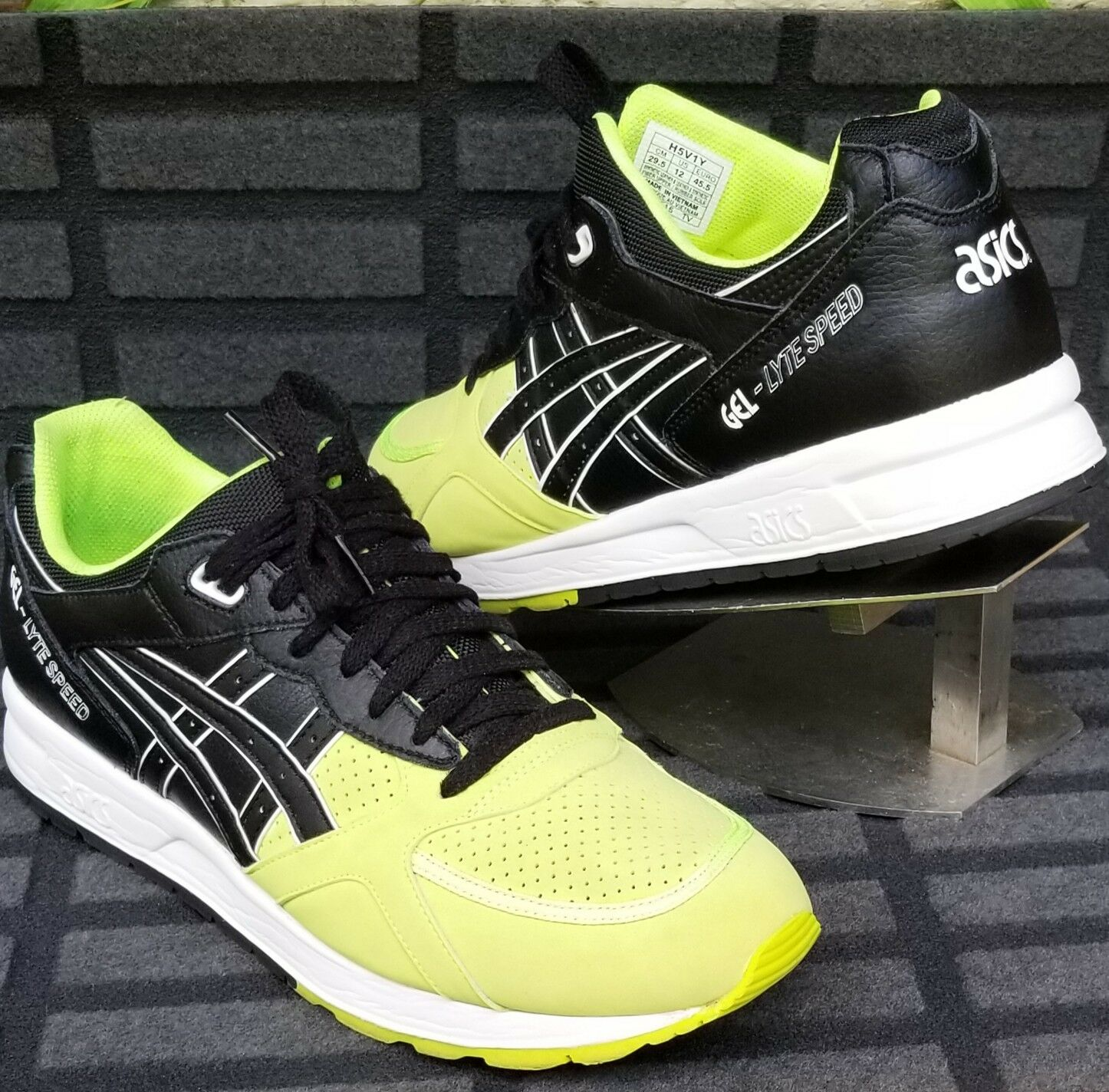 ASICS GEL LYTE SPEED Men's Lime Black Athletic Sneakers shoes Size 12