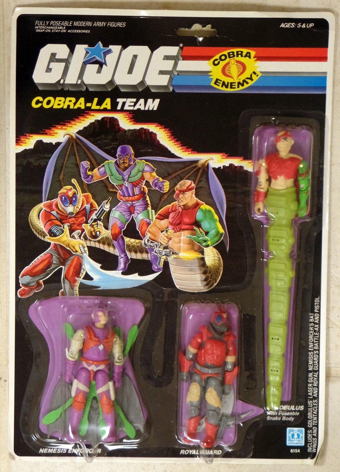 GI Joe COBRA-LA TEAM Colobulus Nemesis Royal Guard 3 3  4 Figures MOC nouveau 1987  autorisation officielle