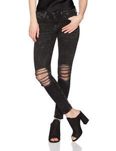 super con Halle donna skinny Jeans True Religion alta vita vita 28 cinturino media a nero 889347912876 a tqnwx0RX