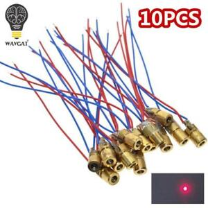 10pcs-5v-650nm-5mw-Adjustable-Laser-Dot-Diode-Module-Red-Sight-Copper-Head