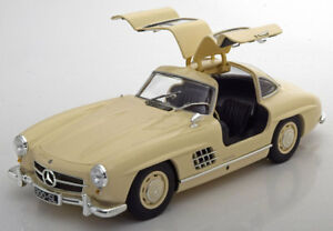 Minichamps 1955 Mercedes Benz 300 Sl W198 Gullwing Crème Le300 0.1cm Stock