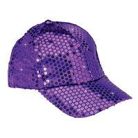 Purple Sequined Glamour Cap Adjustable Washable Baseball Hat Reg $25