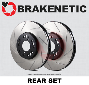 BRAKENETIC PREMIUM SLOTTED Brake Disc Rotors BNP40079.SS REAR SET