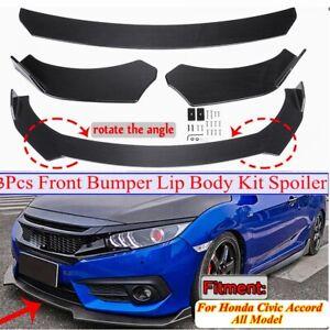 Carbon-Fiber-Look-Front-Bumper-Lip-Spoiler-Chin-Body-Kit-For-Honda-Civic-Accord