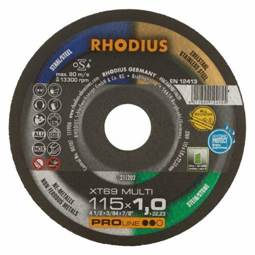 Rhodius Extradünne 125 x 1,0 Trennscheiben XT69 5er Pack