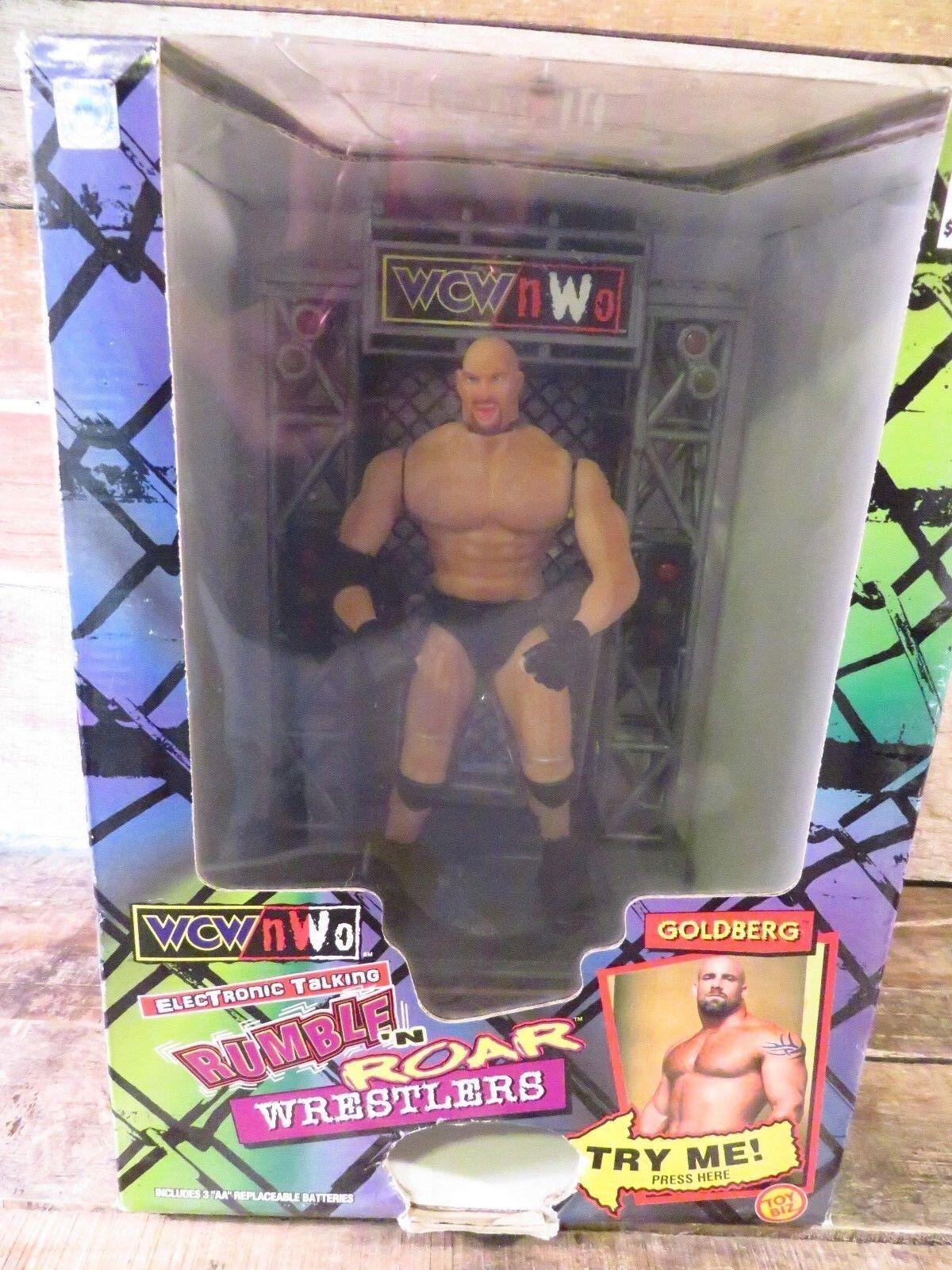 goldBERG Electronic Talking Rumble n Roar Wrestlers WCW NWO NEW