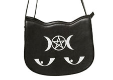 Gótico Pentagrama Oculto Illuminati prohibidas Apparel Kitty Mensajero Bolsa Bolso