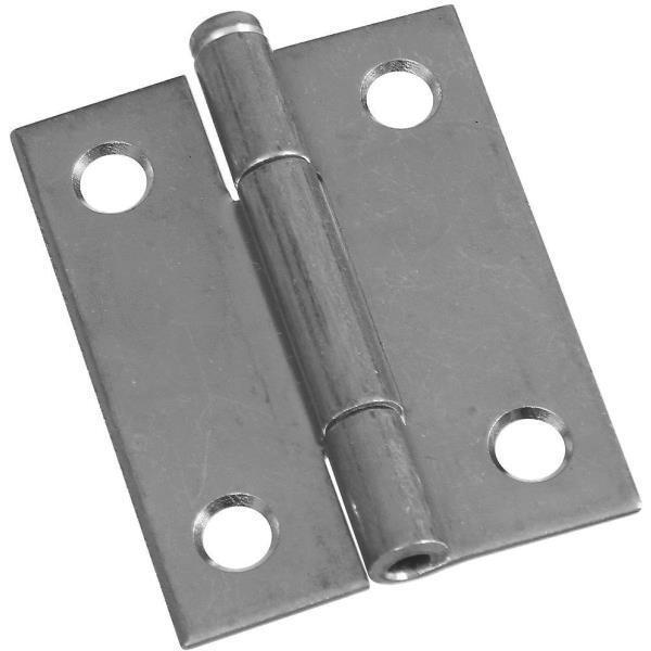 50 Pk Steel 1 9 16  Wide X 2  High Loose-Pin Light Narrow Hinge 2 Pk N141838