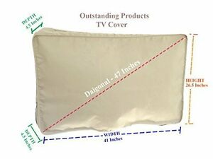 Weather-Resistant-Protective-Outdoor-Television-Cover-LG-43UH6500-LED-TV-Beige