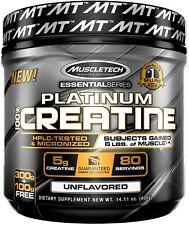 MuscleTech Platinum 100 Ultra-pure Micronized Monohydrate Creatine Powder 400g