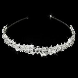 Wedding-Crystal-Flower-Headband-Hairband-Bride-Bridesmaid-W9P1-Tiar-porm-B-W7B7