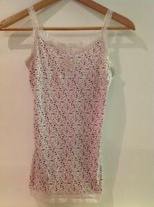 920d97cc543c9 Mossimo Supply Co Girls Lace Edge Pink Floral Tank Cami Camisole Top ...
