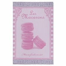 Coucke French Jacquard Cotton Kitchen Dish/Tea Towel Macaroons Rose