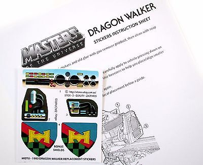 MOTU Masters of the Universe replacement sticker for 1983 ROAD RIPPER BONUS!!!