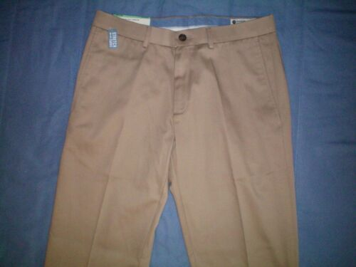 NWT NEW mens HAGGAR flat front straight fit premium no iron stretch flex pants