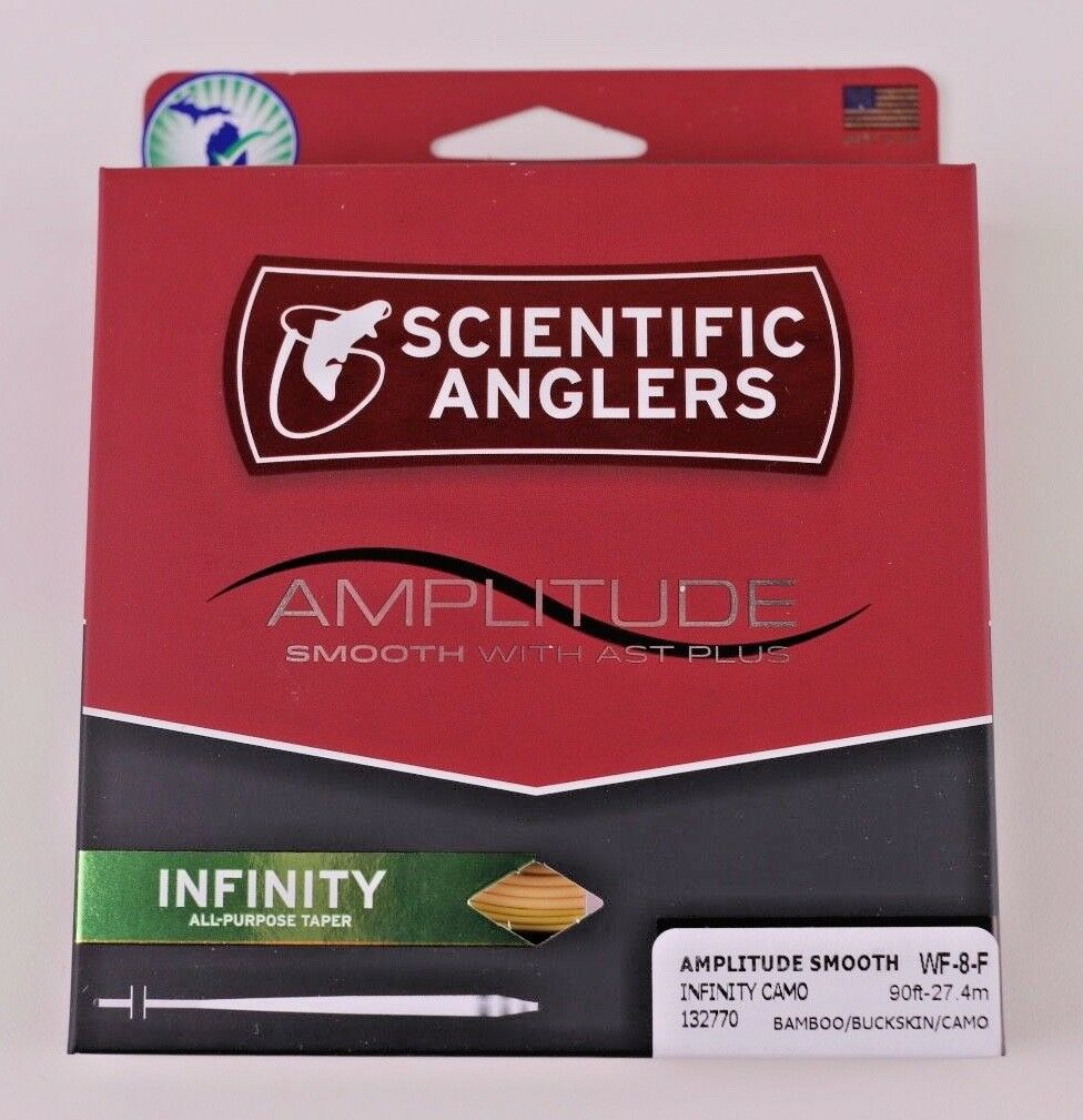 Scientific Anglers Amplitude Smooth Infinity WF8F Fly Line Camo FREE FAST SHIP