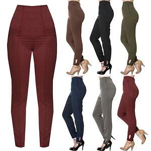 f63222da2c043 Womens Vintage Retro 1950s High Waist Slim Fit Cigarette Pants ...