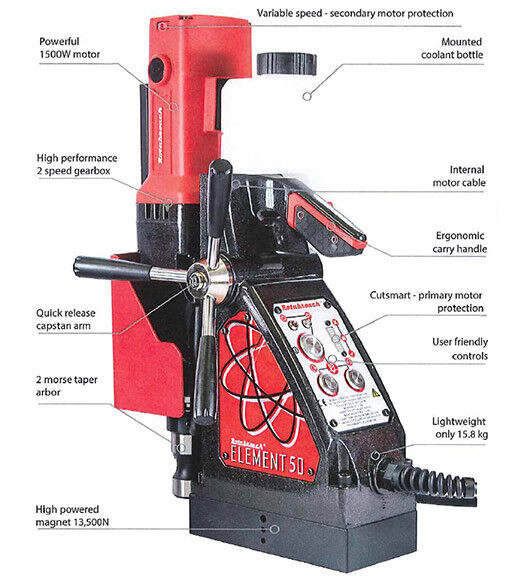 Rotabroach Element 50 Magnetic Drill (110V)