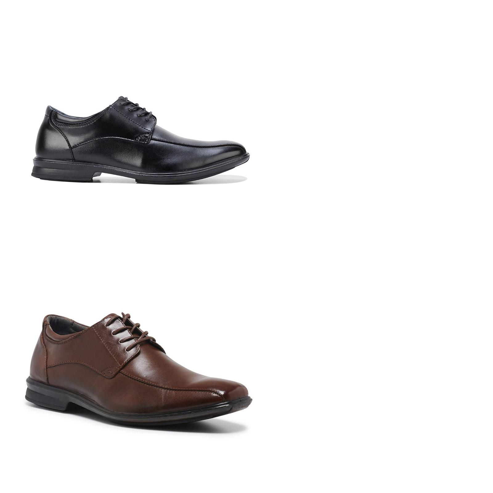 promozioni di squadra Mens Hush Puppies Carey Leather nero Tan Marrone Marrone Marrone Dress Formal Work Comfort scarpe  costo effettivo