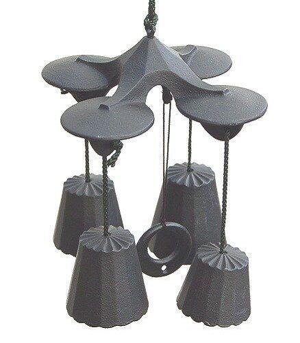 Desde Japón Nanbu Hierro Campanillas Cocheillón de viento campana cuádruple