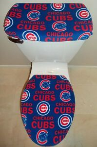 Incredible Details About Mlb Chicago Cubs Fleece Fabric Toilet Seat Cover Set Bathroom Accessories Ibusinesslaw Wood Chair Design Ideas Ibusinesslaworg