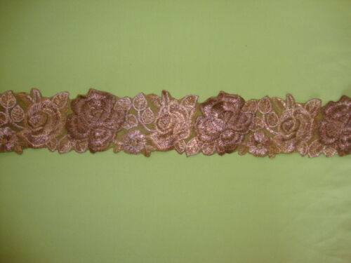 """1Yd Embroidered Fabric Net 2.80/""""Wide Lace Mesh Tulle Trim Ribbon Trim T102"""