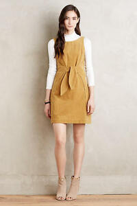 df6a88be9269 Image is loading NWT-NEW-ANTHROPOLOGIE-Holding-Horses-Tied-Corduroy-Dress-