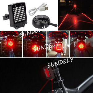FAST-64-LED-Bicycle-Rear-Tail-Laser-Indicator-Turn-Signal-Light-Wireless-Remote